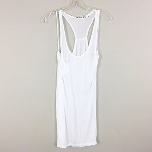Michael Stars | Long White Pocket Tank